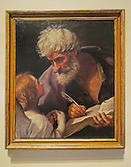 St. Matthew and the angel by Guido Reni, painting in the vatican museum