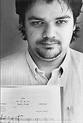 Nederland, Nijmegen, 15-5-1988Componist, musicus en pianist Michiel Braam, later winnaar van de Boy Edgar prijs 1996.FOTO: FLIP FRANSSEN