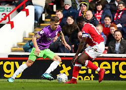 Jamie Paterson of Bristol City takes on Andy Yiadom of Barnsley - Mandatory by-line: Robbie Stephenson/JMP - 30/03/2018 - FOOTBALL - Oakwell Stadium - Barnsley, England - Barnsley v Bristol City - Sky Bet Championship