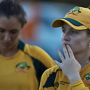 Jodie Field after Australia's loss during the ICC Women's World Cup Cricket play off for third place between Australia and India at Bankstown Oval, Sydney, Australia on March 21, 2009. India beat Australia by three wickets. Photo Tim Clayton