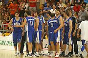 Giochi del Mediterraneo Almeria 2005<br /> azioni di gioco<br /> nella foto: team