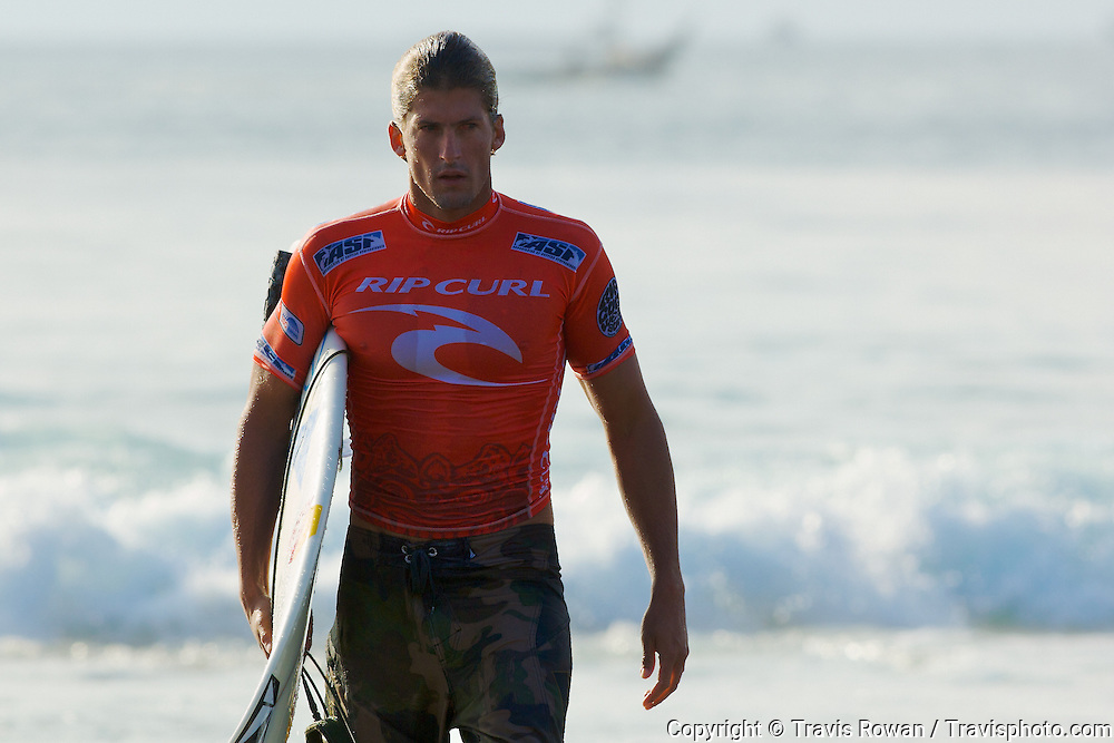 Pro surfer, Bruce Irons at the Rip Curl Pro Search event in Bali, Indonesia in 2008