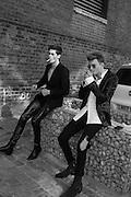 JOE COLLIER; MAX WALLIS, Glam Rock fashion shoot. 8 September 2016