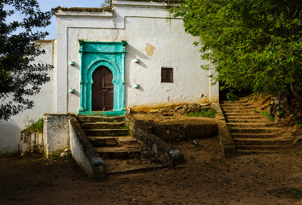 RABAT, MOROCCO - CIRCA APRIL 2017: Abandoned building in the Chellah, an ancient citadel featuring Roman ruins an royal tombstones in Rabat.