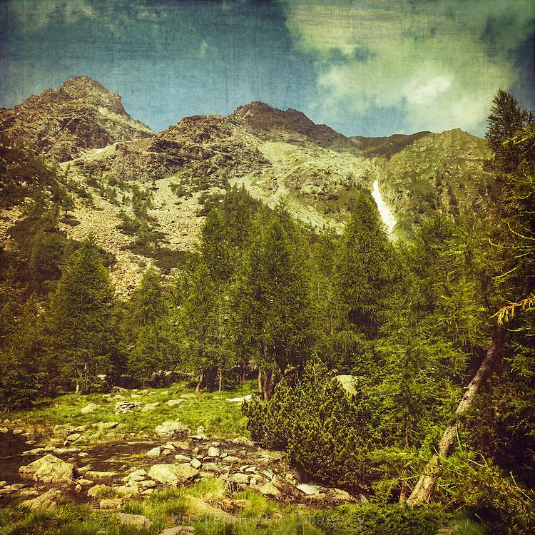 Alpine landscape - vintage processing