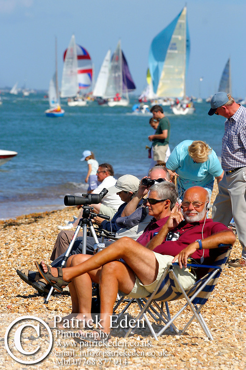 Spectators Cowes Week. Isle of Wight Photographs of the Isle of Wight by photographer Patrick Eden photography photograph canvas canvases