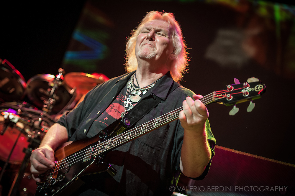 Chris Squire legendary bassist and founder member of the British rock band, YES, live in Cambridge on November 2011. Chris Squire passed away on 28th of June 2015.