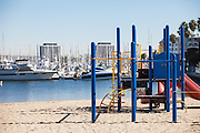 Children's Playground at Mother's Beach in the Marina Del Rey Harbor