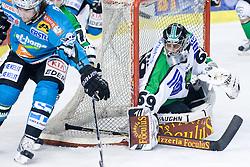 Matija Pintaric (HDD Tilia Olimpija, #69) during ice-hockey match between HDD Tilia Olimpija and EHC Liwest Black Wings Linz in 37th Round of EBEL league, on Januar 9, 2011 at Hala Tivoli, Ljubljana, Slovenia. (Photo By Matic Klansek Velej / Sportida.com)