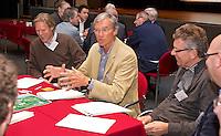 ARNHEM - Lodewijk Klootwijk (NVG)  en Michiel Scholvink (Noordhollandse) bij de NGF Themadag op Sportcentrum Papendal in Arnhem. FOTO KOEN SUYK
