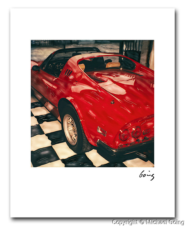 8x10 archival pigment print red Ferrari Dino