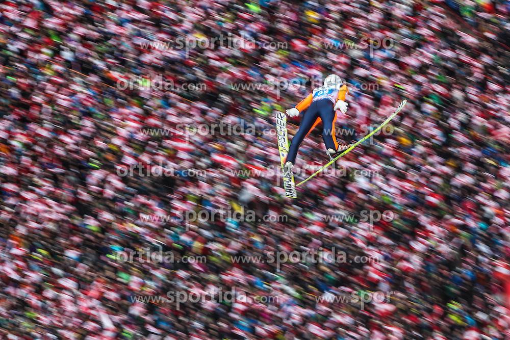 04.01.2014, Bergisel Schanze, Innsbruck, AUT, FIS Ski Sprung Weltcup, 62. Vierschanzentournee, Innsbruck, Bewerb, im Bild Stefan Kraft (AUT) // Stefan Kraft (AUT) during Competition of 62nd Four Hills Tournament of FIS Ski Jumping World Cup at the Bergisel Schanze in Innsbruck, Austria on 2014/01/04. EXPA Pictures © 2014, PhotoCredit: EXPA/ JFK