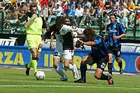 Siena 29-05-2005<br />Campionato di calcio serie A 2004-05 Siena Atalanta<br />Nella foto Chiesa e Capelli<br />Foto Snapshot / Graffiti