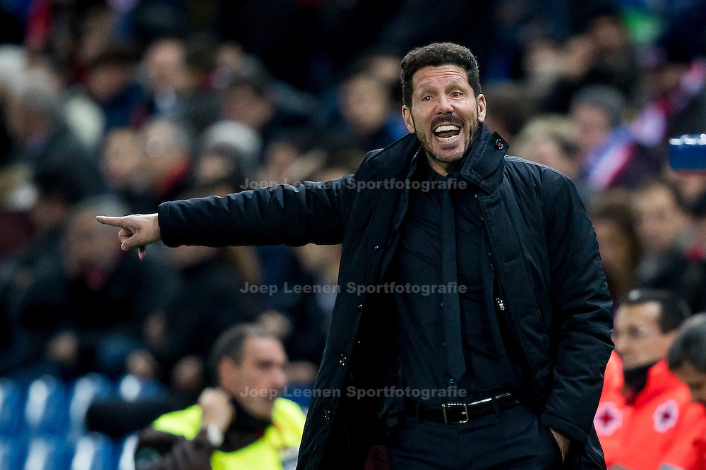 MADRID, Atletico de Madrid - PSV, 23-11-2016, voetbal, Champions League, seizoen 2016-2017, Estadio Vicente Calderon, Atletico Madrid coach Diego Simeone.