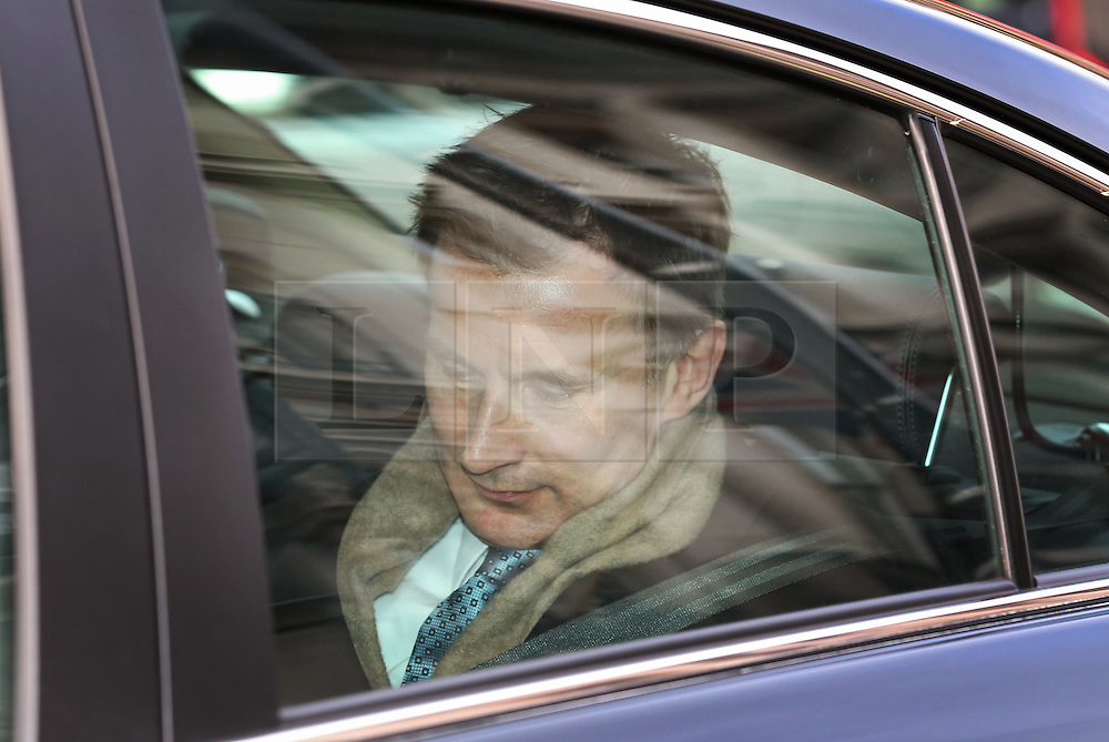 © Licensed to London News Pictures. 12/01/2016. London, UK. Health Secretary Jeremy Hunt leaves Downing Street after attending cabinet. Junior doctors in England are holding a strike today, the first for 40 years. Photo credit: Peter Macdiarmid/LNP