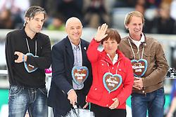 11.06.2011, Allianz Arena, Muenchen, GER, Stars die Winterspiele und Du , im Bild  Gerd Schönfelder Christian Neureuther Rosi Mittermaier und Markus Wasmeier, EXPA Pictures © 2011, PhotoCredit: EXPA/ nph/  Straubmeier       ****** out of GER / SWE / CRO  / BEL ******