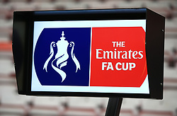 VAR system to be used in todays game during the Emirates FA Cup, third round match at the Vitality Stadium, Bournemouth.
