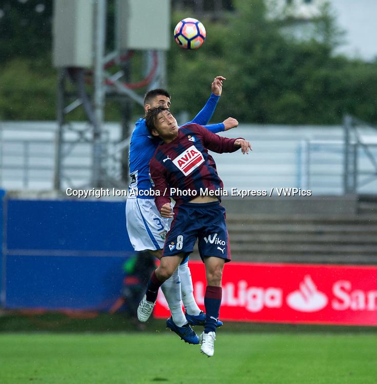 Match day of La Liga Santander 2016 - 2017 season between S.D Eibar - C.D Leganes, played Ipurua Stadium on Sunday, April 30th, 2017. Eibar, Spain. 8 Inui, 3 Bustinza. Photo: ION ALCOBA | PHOTO MEDIA EXPRESS