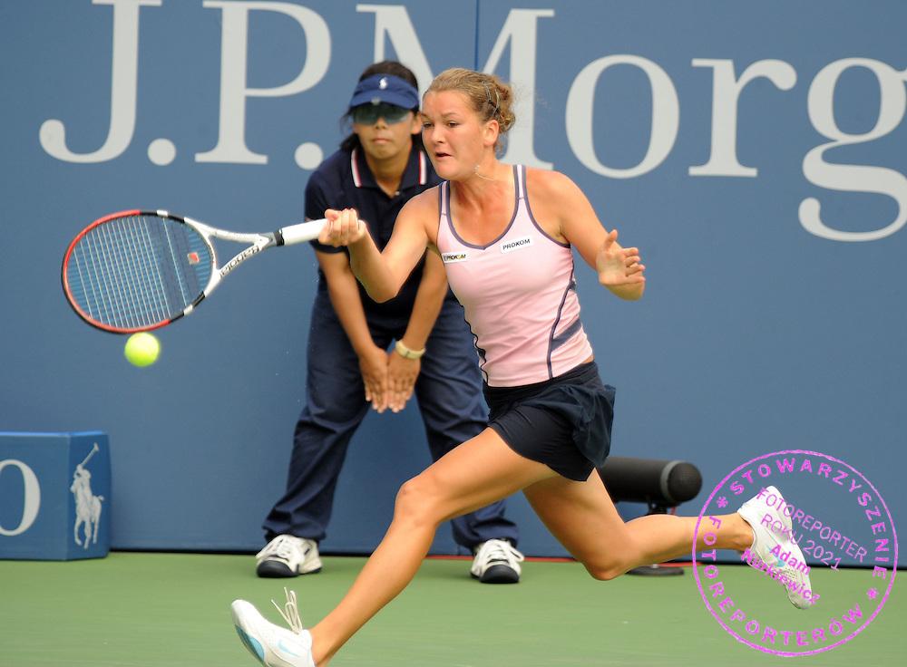 US  Open Tennis 2008 Flushing Meadows New York 30/08/2008.Agnieszka Radwanska (POL) third  round match.Photo Roger Parker  Fotosports Interntional