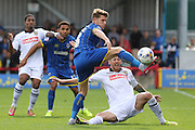 Jake Reeves of AFC Wimbledon during the Sky Bet League 2 match between AFC Wimbledon and Notts County at the Cherry Red Records Stadium, Kingston, England on 19 September 2015. Photo by Stuart Butcher.