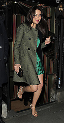 Olga Kurylenko attends a dinner hosted by Olivier Rousteing, at the private members club Annabel's to mark the opening of Balmain's first London store. London. UK. 16/03/2015<br />BYLINE MUST READ : GOTCHAIMAGES.COM<br /><br />Copyright by © Gotcha Images Ltd. All rights reserved.<br />Usage of this image is conditional upon the acceptance <br />of Gotcha Images Ltd, terms and conditions available at<br />www.gotchaimages.com