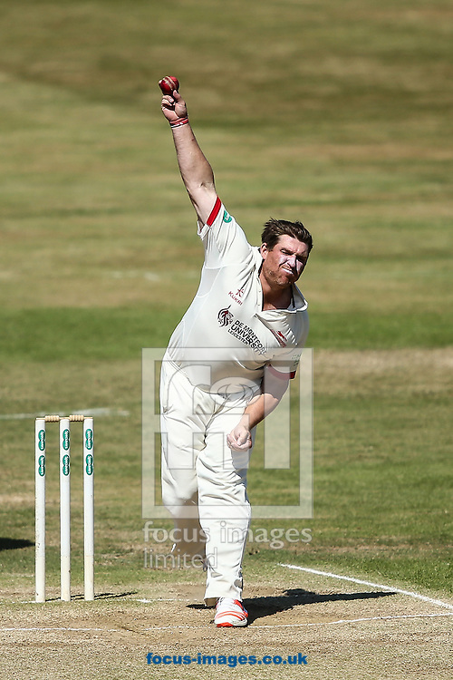 Mark Cosgrove of Leicestershire in delivery stride during the Specsavers County C'ship Div Two match at the County Ground, Northampton<br /> Picture by Andy Kearns/Focus Images Ltd 0781 864 4264<br /> 15/08/2016