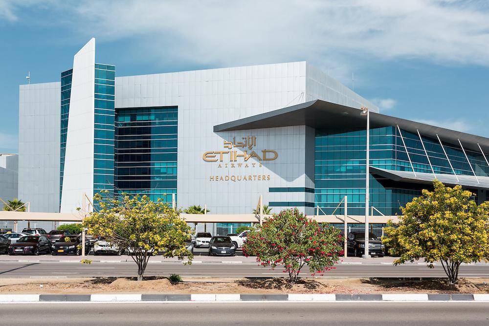 ABU DHABI, UAE - FEBRUARY 8, 2015: Etihad Airways Headquarters.