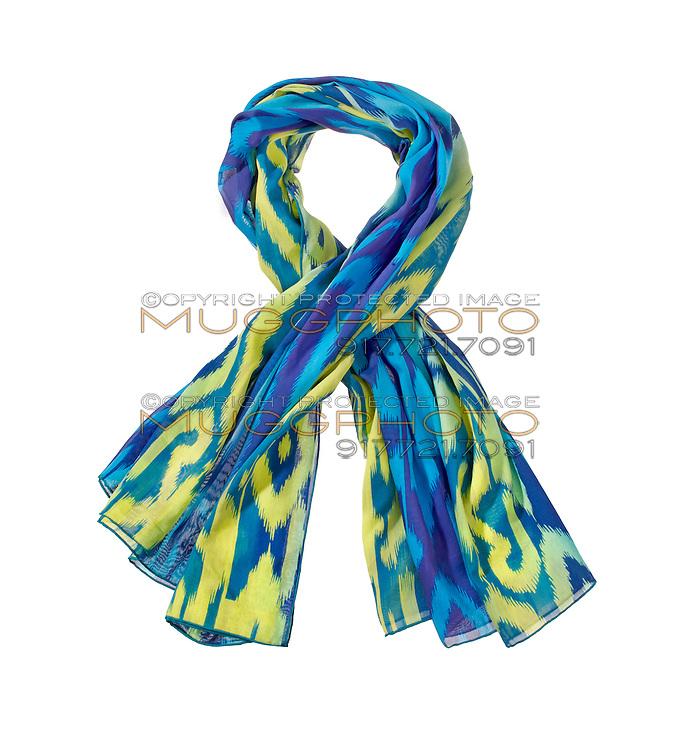 Island girl scarf on white background
