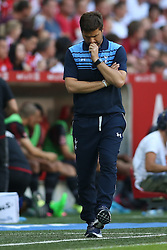 05.08.2015, Allianz Arena, Muenchen, GER, AUDI CUP, AC Milan vs Tottenham Hotspur, im Bild Trainer Mauricio Pochettino (Tottenham Hotspur) // during the 2015 Audi Cup Match between AC Milan and Tottenham Hotspur at the Allianz Arena in Muenchen, Germany on 2015/08/05. EXPA Pictures &copy; 2015, PhotoCredit: EXPA/ Eibner-Pressefoto/ Sch&uuml;ler<br /> <br /> *****ATTENTION - OUT of GER*****