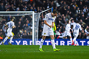 Luke Ayling of Leeds United (2) celebrates Patrick Bamford of Leeds United (9) scoring a goal to make the score 2-0 during the EFL Sky Bet Championship match between Leeds United and West Bromwich Albion at Elland Road, Leeds, England on 1 March 2019.