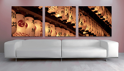 Light up any home or office with this special edition triptych of 'Lanterns in Gion'.