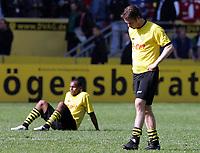 v.l. Ewerthon, Lars Ricken BVB<br /> Bundesliga 1. FC Kaiserslautern - Borussia Dortmund 1:1