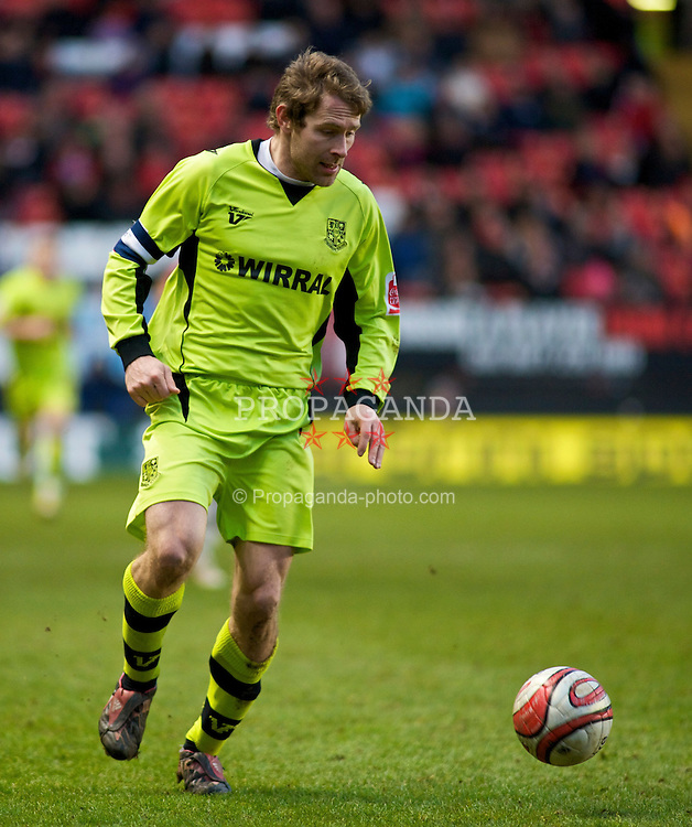 LONDON, ENGLAND - Saturday, January 30, 2010: Tranmere Rovers' Ian Moore in action during the Football League One match at the Valley. (Photo by Gareth Davies/Propaganda)