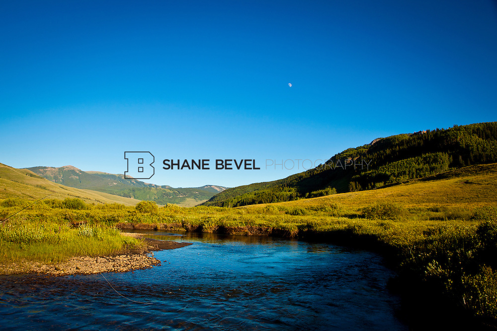 Fly fishing in Crested Butte, Colorado on the East River. ..Photo by Shane Bevel