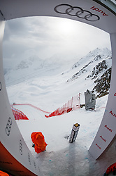 15.03.2016, Engiadina, St. Moritz, SUI, FIS Weltcup Ski Alpin, St. Moritz, Abfahrt, Herren, 1. Training, im Bild Medien Besichtigung Freefall Start // during 1st training run for the men's Downhill of St. Moritz Ski Alpine World Cup finals at the Engiadina in St. Moritz, Switzerland on 2016/03/15. EXPA Pictures © 2016, PhotoCredit: EXPA/ Freshfocus/ Manuel Lopez<br /> <br /> *****ATTENTION - for AUT, SLO, CRO, SRB, BIH, MAZ only*****