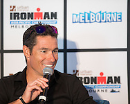 Craig Alexander (AUS) (Three Time World Champion And Defending Champion). Ironman Melbourne Triathlon Press Launch 2013. Etihad Stadium, Melbourne, Victoria, Australia. 25/02/2013. Photo By Lucas Wroe