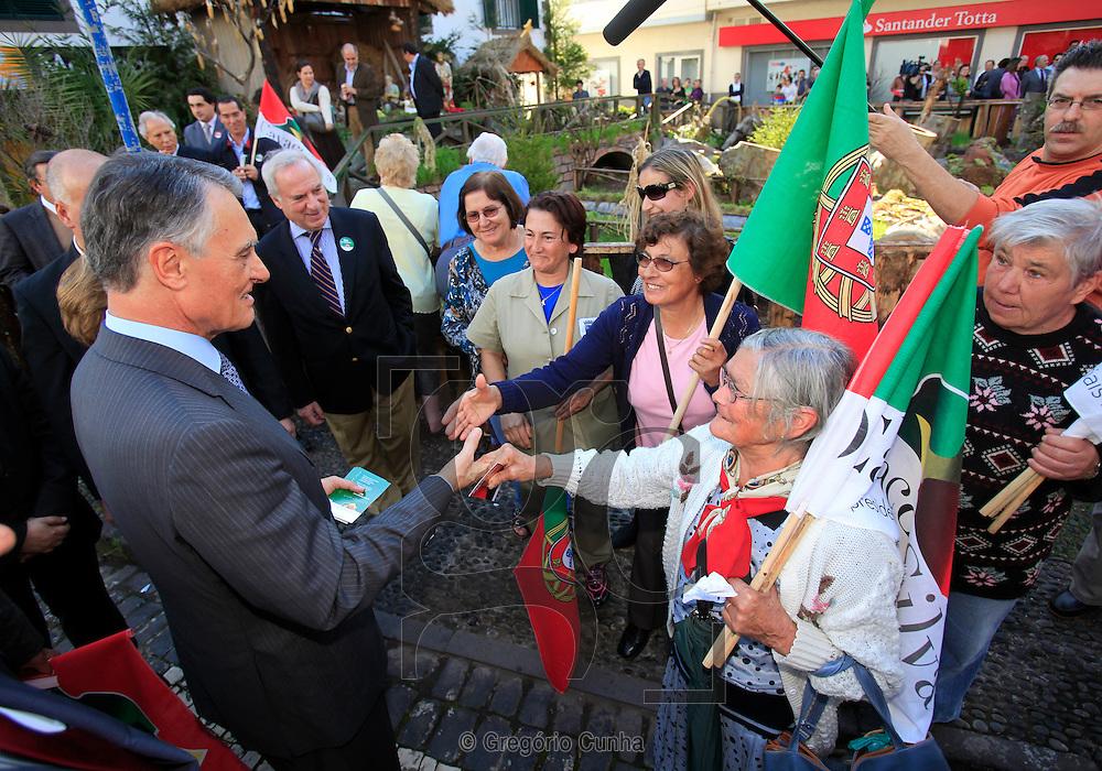 Candidato a presidencia da republica portuguesa Anibal Cavaco Silva em campanha eleitoral na Ilha da Madeira .Foto Gregorio Cunha.