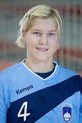 Portrait of Maja Zrnec of Slovenian Handball Women National Team, on June 3, 2009, in Arena Kodeljevo, Ljubljana, Slovenia. (Photo by Vid Ponikvar / Sportida)