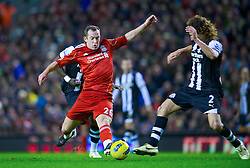 30.12.2011, Anfield Stadion, Liverpool, ENG, PL, FC Liverpool vs Newcastle United, 19. Spieltag, im Bild Liverpool's Charlie Adam in action against Newcastle United during the football match of English premier league, 19th round, between FC Liverpool and Newcastle United at Anfield Stadium, Liverpool, United Kingdom on 2011/12/30. EXPA Pictures © 2011, PhotoCredit: EXPA/ Propagandaphoto/ David Rawcliff..***** ATTENTION - OUT OF ENG, GBR, UK *****