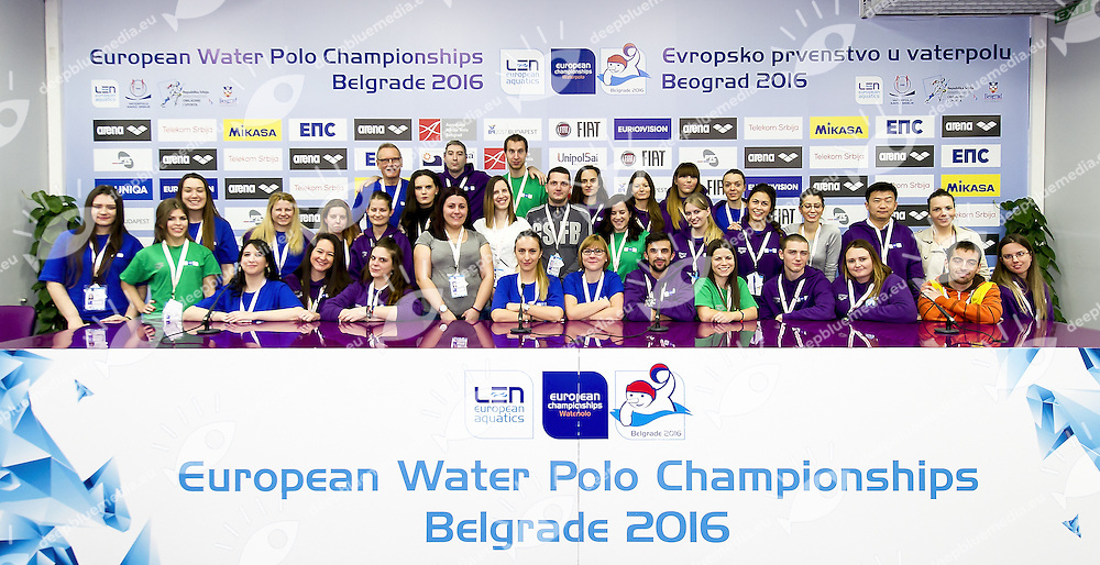 Volunteers<br /> Women ITA - Spain Italy (white cap) Vs. Spain (blue Cap)<br /> LEN European Water Polo Championships 2016<br /> Kombank Arena, Belgrade, Serbia <br /> Day10  19-01-2016<br /> Photo G.Scala/Insidefoto/Deepbluemedia