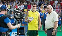 ANTWERP -   Topscorer and young talent Blake Govers after  the final Australia vs Belgium (1-0). left  WSP COPYRIGHT KOEN SUYK