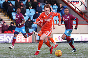 Shrewsbury Town midfielder Jon Nolan (20)  during the EFL Sky Bet League 1 match between Scunthorpe United and Shrewsbury Town at Glanford Park, Scunthorpe, England on 17 March 2018. Picture by Mick Atkins.