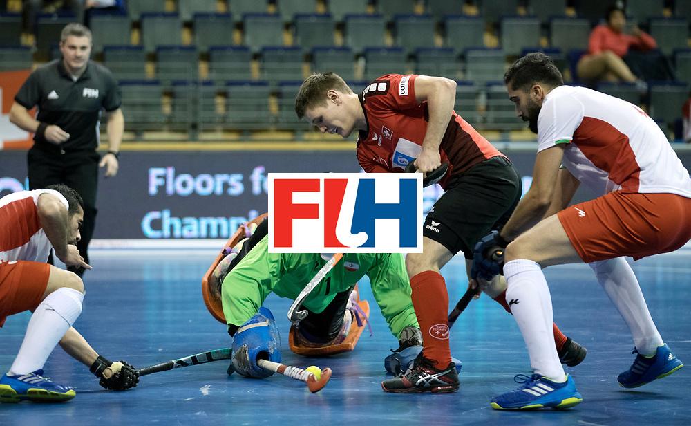 BERLIN - Indoor Hockey World Cup<br /> Men: Iran - Switzerland<br /> foto: STOMPS Boris.<br /> COPYRIGHT WILLEM VERNES