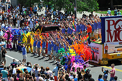 In the wake of a mass shooting in Orlando, Fl., the local LGBT community, joined by elected officials, gathers for the 28th annual Philly Gay Pride, held June 12th, 2016, in Center City Philadelphia, Pennsylvania.