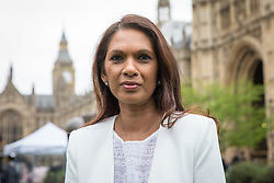 © Licensed to London News Pictures. 29/03/2017. London, UK. GINA MILLER speaks to the media on College Green next to Parliament. Prime Minister Theresa May has delivered a letter to Brussels triggering Article 50 which marks the start of formal proceedings for Britain's exit from the European Union.Photo credit: Rob Pinney/LNP