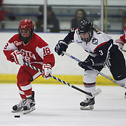 Rebecca Russo, Boston University, in action during the UConn Vs Boston University, Women's Ice Hockey game at Mark Edward Freitas Ice Forum, Storrs, Connecticut, USA. 5th December 2015. Photo Tim Clayton