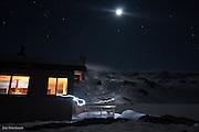 outside Angelus Hut, Nelson Lakes 2011. Photo Joe Harrison