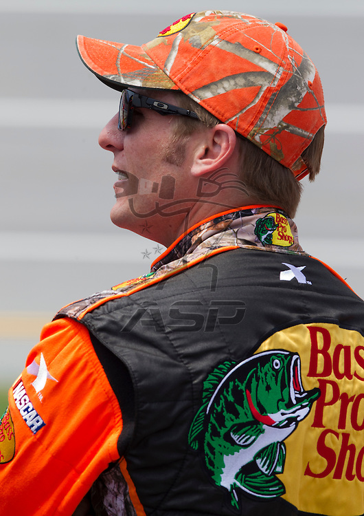 Talladega, AL - MAY 05, 2012:  Jamie McMurray (1) waits to qualify for the Aaron's 499 race at the Talladega Superspeedway in Talladega, AL.