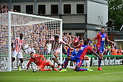 Crystal Palace forward Cbristian Benteke (17) has a go at goal during the Premier League match between Crystal Palace and Stoke City at Selhurst Park, London, England on 18 September 2016. Photo by Jon Bromley.