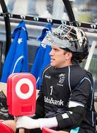 UTRECHT - keeper David Harte (Kampong) voor de 2e finale van de play-offs om de landtitel tussen de heren van Kampong en Amsterdam  (1-2) . Zondag volgt er een derde en beslissende wedstrijd. COPYRIGHT  KOEN SUYK